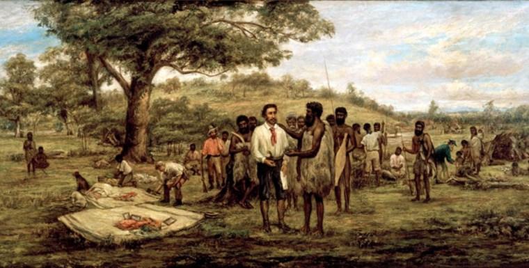 """Signature du """"traité"""" avec le populations locales"""