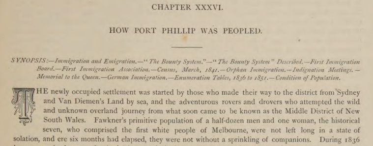 The Chronicles of early Melbourne, Garryowen