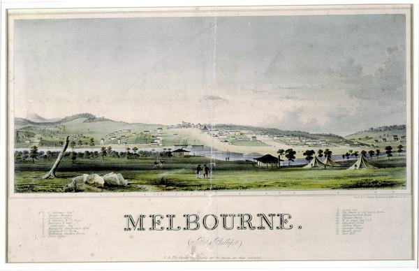 Melbourne dans les années 1830.